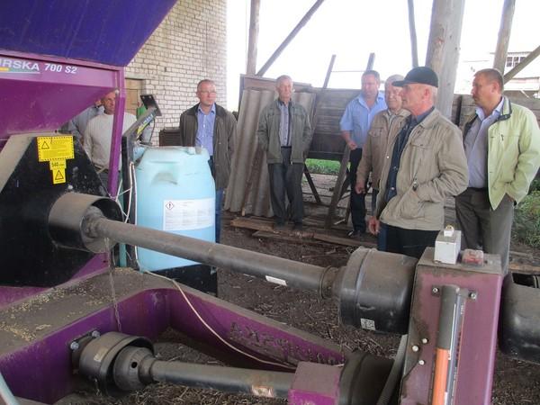 Установка для плющения зерна в строителе