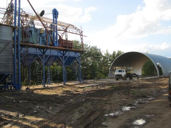Зерносушильный комплекс с зерноскладом в елгани